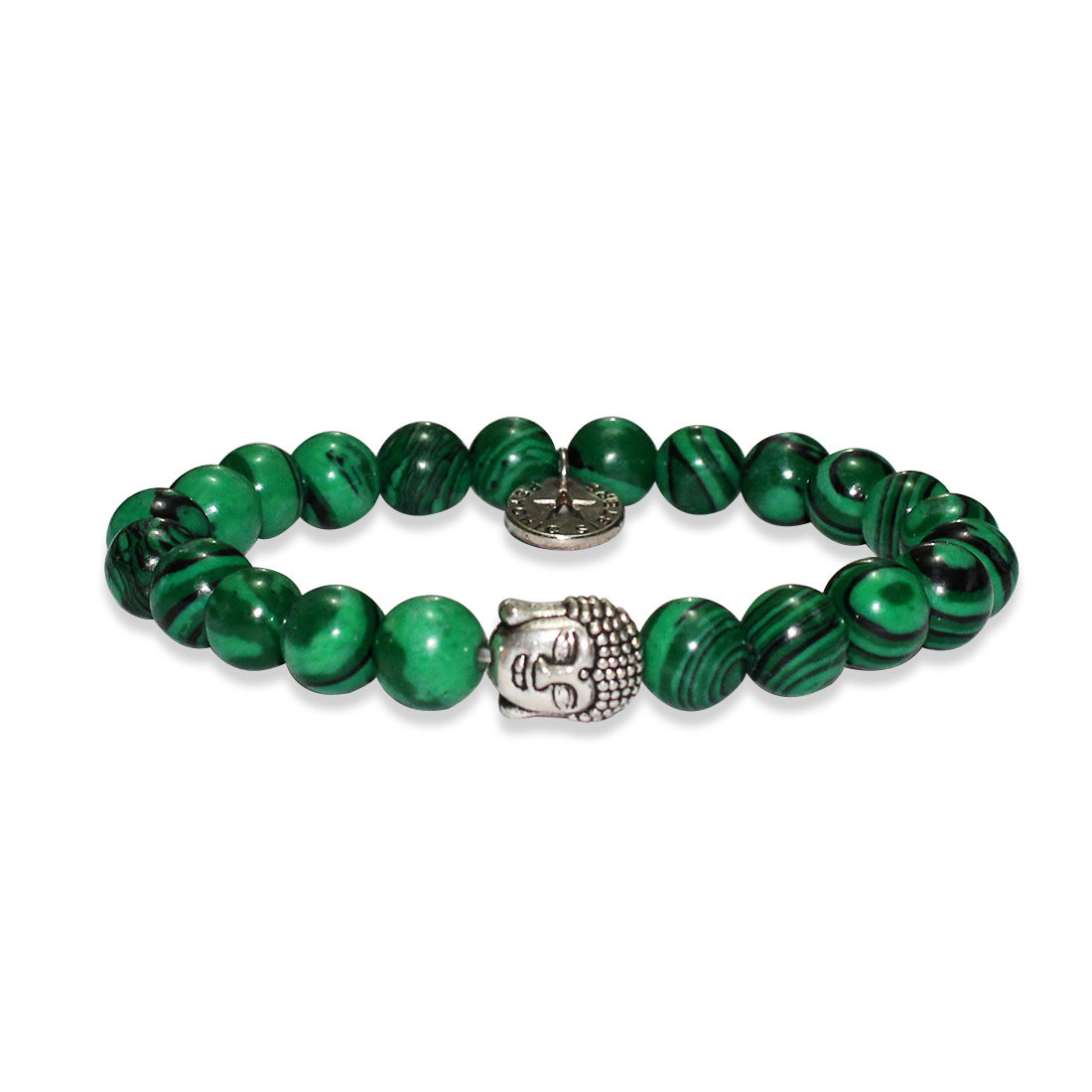 Malachite Buddha Head