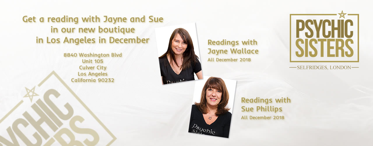Jayne Wallace and the Psychic Sisters, Selfridges, London, Aura Reading, Clairvoyance Reading Readings in new Boutique in LA in December