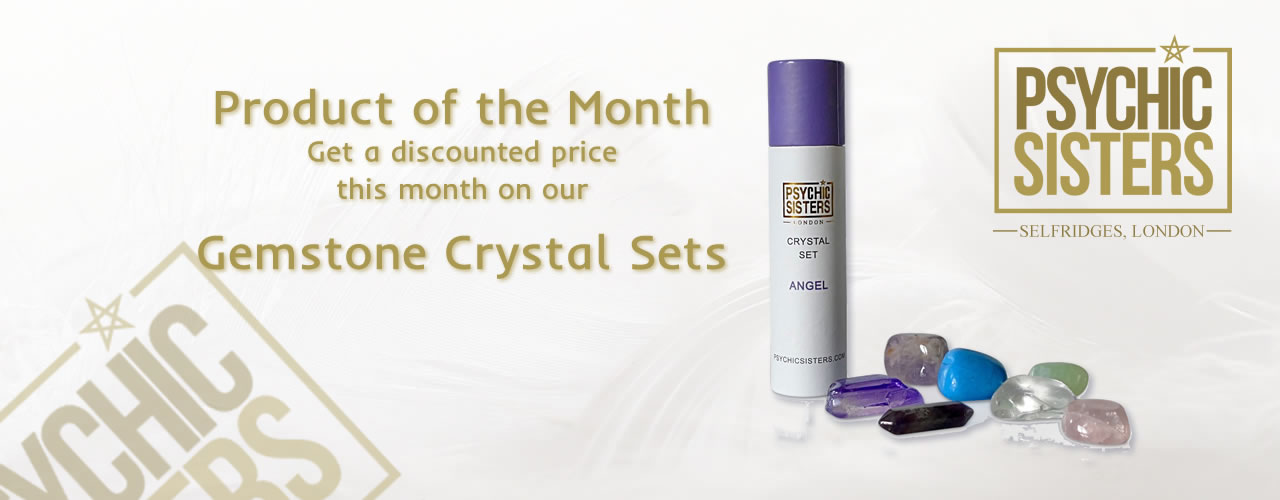 Jayne Wallace and the Psychic Sisters, Selfridges, London, Aura Reading, Clairvoyance Reading March  Product of the Month - Gemstone Crystal Sets